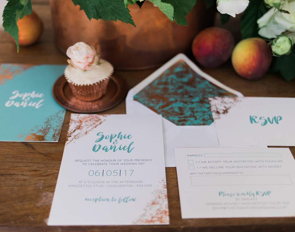 DISTRESSED TEAL & COPPER