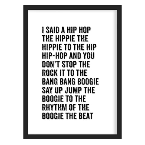 Rappers Delight Print