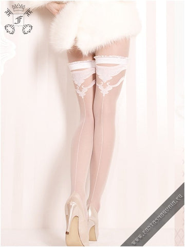WHITE BUTTERFLY STOCKINGS