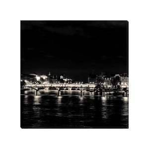 seine at night paris canvas print