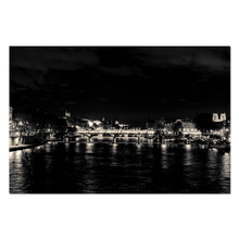Load image into Gallery viewer, seine at night paris canvas print
