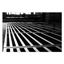 Load image into Gallery viewer, High Quality Paris Canvas Print - BNF Geometric Shadows | Paris Noir & Blanc