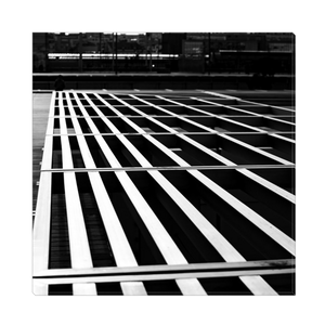 High Quality Paris Canvas Print - BNF Geometric Shadows | Paris Noir & Blanc