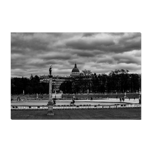 High Quality Paris Canvas Print - Jardin du Luxembourg on a Cloudy Day | Paris Noir & Blanc