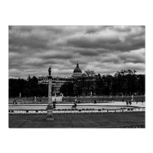 Load image into Gallery viewer, High Quality Paris Canvas Print - Jardin du Luxembourg on a Cloudy Day | Paris Noir & Blanc