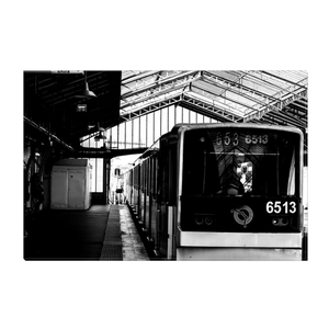 High Quality Paris Canvas Print - Sevres-Lecourbe Metro | Paris Noir & Blanc