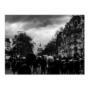 High Quality Paris Canvas Print - Protests In Paris | Paris Noir & Blanc