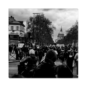 High Quality Paris Canvas Print - More Protests In Paris | Paris Noir & Blanc
