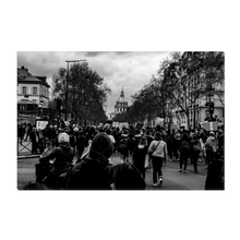 Load image into Gallery viewer, High Quality Paris Canvas Print - More Protests In Paris | Paris Noir & Blanc