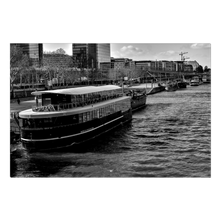 Load image into Gallery viewer, High Quality Paris Canvas Print - View From Pont de Tolbiac | Paris Noir & Blanc