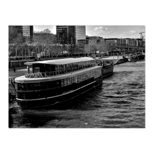 High Quality Paris Canvas Print - View From Pont de Tolbiac | Paris Noir & Blanc