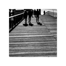 Load image into Gallery viewer, shadows at Passerelle Simone de Beauvoir paris canvas print