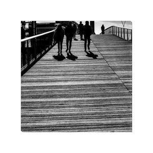 shadows at Passerelle Simone de Beauvoir paris canvas print