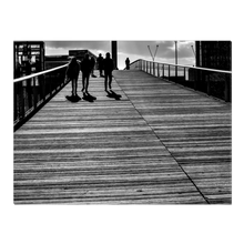 Load image into Gallery viewer, High Quality Paris Canvas Print - Shadows at Passerelle Simone De Beauvoir | Paris Noir & Blanc