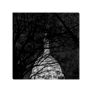 sacre-coeur at night canvas print