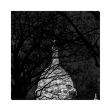 Load image into Gallery viewer, High Quality Paris Canvas Print - Nightly Shadows & The Sacre-Coeur | Paris Noir & Blanc