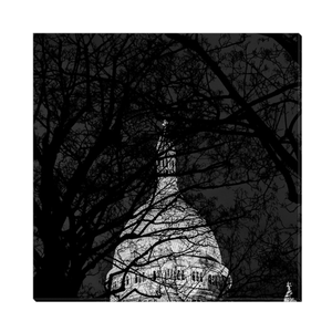 High Quality Paris Canvas Print - Nightly Shadows & The Sacre-Coeur | Paris Noir & Blanc