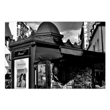 Load image into Gallery viewer, High Quality Paris Canvas Print - Parisian Newsstand | Paris Noir & Blanc