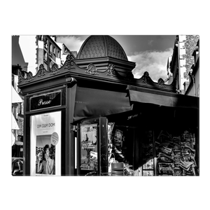 High Quality Paris Canvas Print - Parisian Newsstand | Paris Noir & Blanc