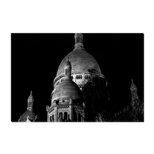 Load image into Gallery viewer, High Quality Paris Canvas Print - The Sacre-Coeur Towers At Night | Paris Noir & Blanc