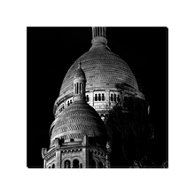 Load image into Gallery viewer, sacre-coeur towers at night canvas print