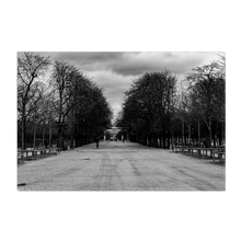 Load image into Gallery viewer, High Quality Paris Canvas Print | At The Jardin du Luxembourg | Paris Noir & Blanc