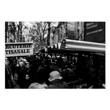 Load image into Gallery viewer, High Quality Paris Canvas Print - Typical Parisian Market | Paris Noir & Blanc