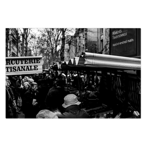 typical parisian market canvas print