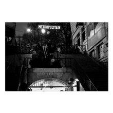 Load image into Gallery viewer, High Quality Paris Canvas Print - Lamarck-Colaincourt Station in Monmartre | Paris Noir & Blanc