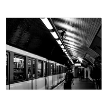 Load image into Gallery viewer, High Quality Paris Canvas Print - Bercy Metro Station | Paris Noir & Blanc