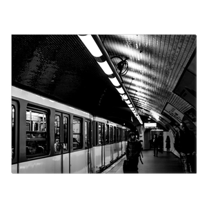 High Quality Paris Canvas Print - Bercy Metro Station | Paris Noir & Blanc