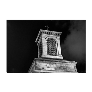 High Quality Paris Canvas Print - Notre-Dame De Lorette At Night | Paris Noir & Blanc