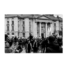 Load image into Gallery viewer, High Quality Paris Canvas Print - Protests Near The Pantheon | Paris Noir & Blanc