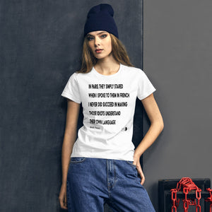 paris by mark twain tshirt