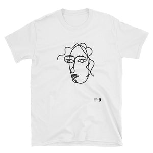 t-shirt parisian woman paris noir blanc