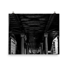 Load image into Gallery viewer, Museum Quality Poster | Under Metro Chevaleret | Paris Noir & Blanc