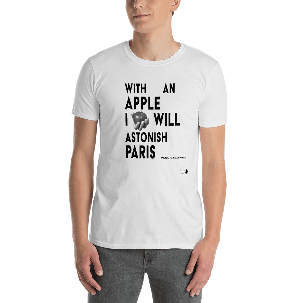 with an apple tshirt