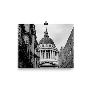 behind the pantheon paris black white poster