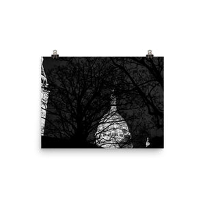the sacre-coeur at night poster