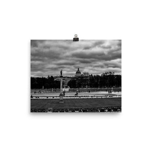 clouds over jardin du luxembourg poster