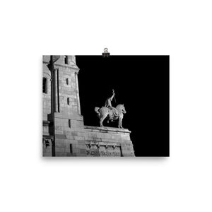 the sacre-coeur horseman at night poster