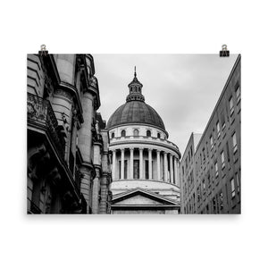 Museum Quality Poster | Behind The Pantheon | Paris Noir et Blanc