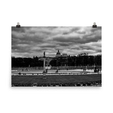 Load image into Gallery viewer, Museum Quality Poster | Clouds Over Jardin du Lexembourg | Paris Noir & Blanc