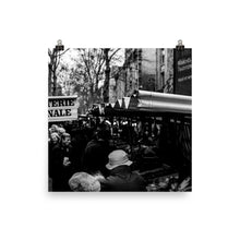 Load image into Gallery viewer, Museum Quality Poster | Parisian Weekend Market | Paris Noir & Blanc
