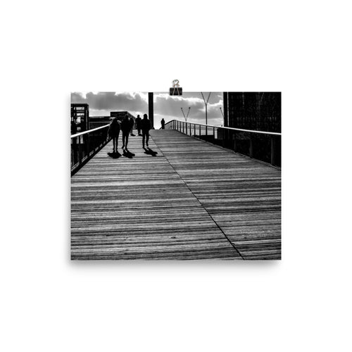 Passerelle Simone de Beauvoir poster paris black white