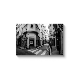 High Quality Paris Canvas Print - Rue de Seine | Paris Noir & Blanc