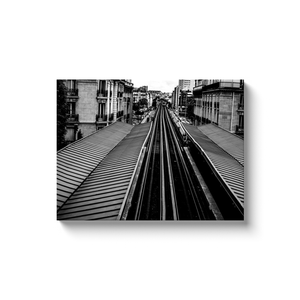 High Quality Paris Canvas Print - View of Passy Metro Station | Paris Noir & Blanc