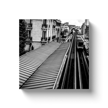 Load image into Gallery viewer, High Quality Paris Canvas Print - Passy Metro Station | Paris Noir & Blanc