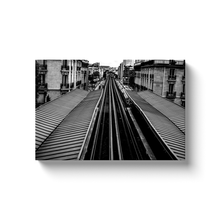 Load image into Gallery viewer, High Quality Paris Canvas Print - View of Passy Metro Station | Paris Noir & Blanc