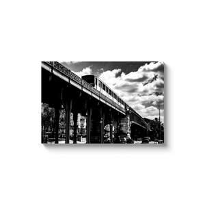 High Quality Paris Canvas Print - Bir Hakeim Metro Station | Paris Noir & Blanc